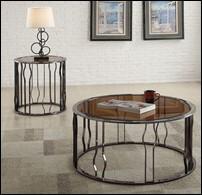Alys Modern Glass Coffee Table Set
