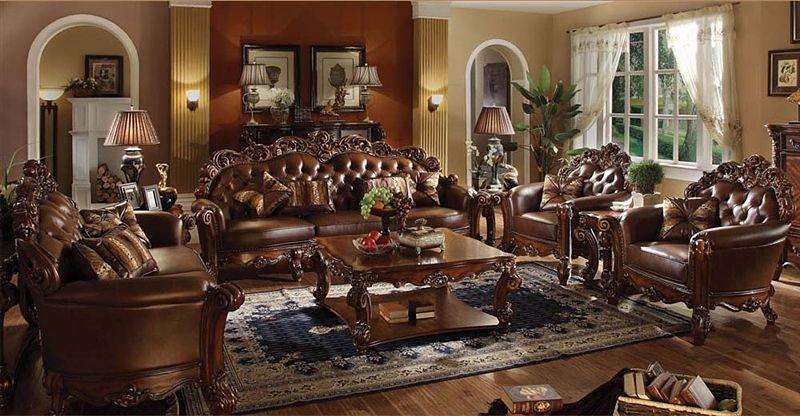 Vendome Formal Living Room Set in Cherry