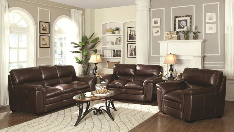 Burton Leather Living Room Set