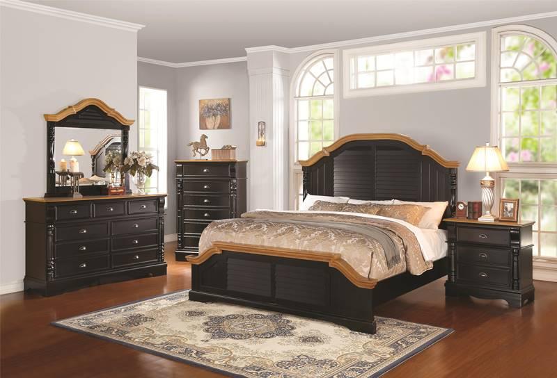 Oleta Bedroom Set in Black