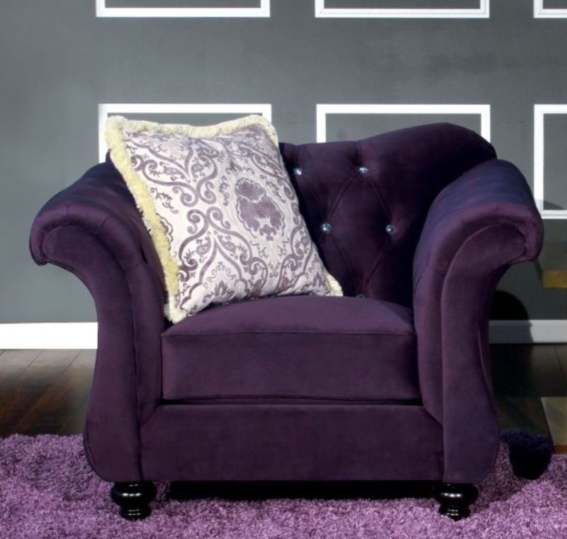 dallas designer furniture   antoinette living room set in purple