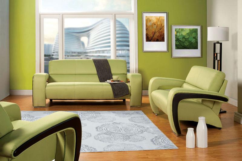 Enez Living Room Set in Green