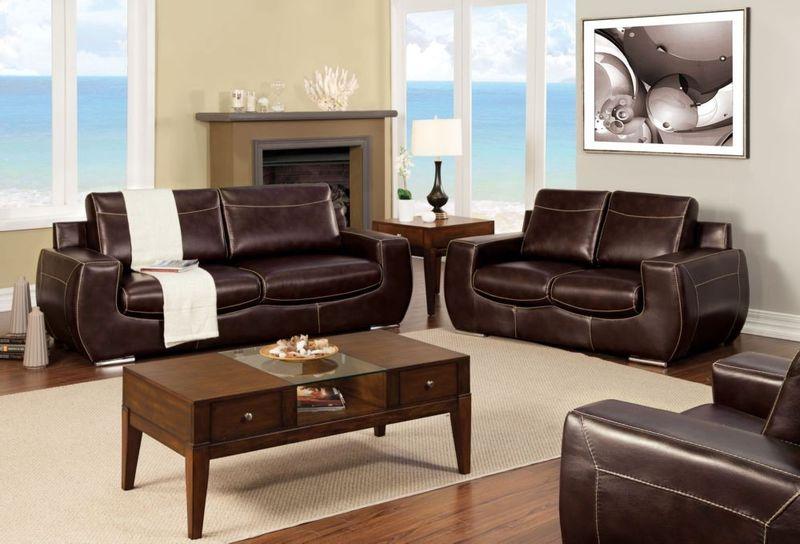 Tekir Living Room Set in Espresso