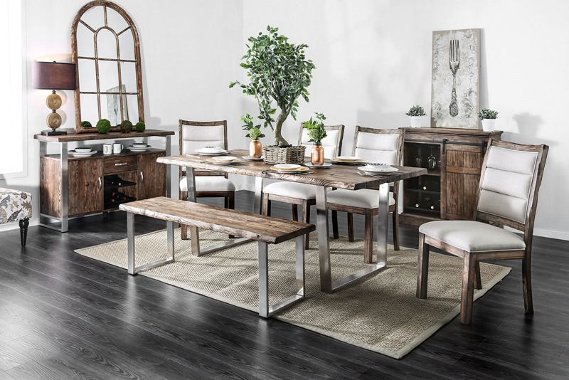 Mandy Formal Dining Room Set in Oak