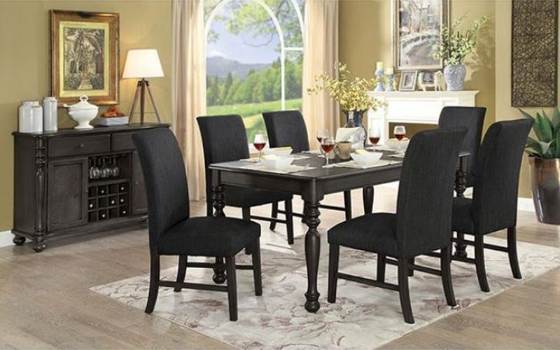 Siobhan II Formal Dining Room Set in Dark Gray