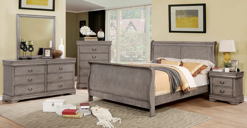 Eugenia Bedroom Set in Gray