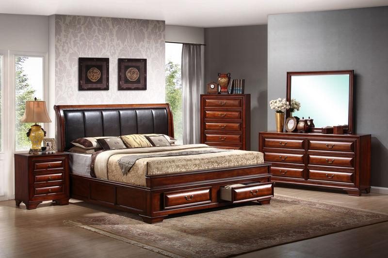 Fairmont Bedroom Set with Storage Bed