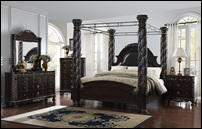 Corinthian Bedroom Set set Canopy Bed