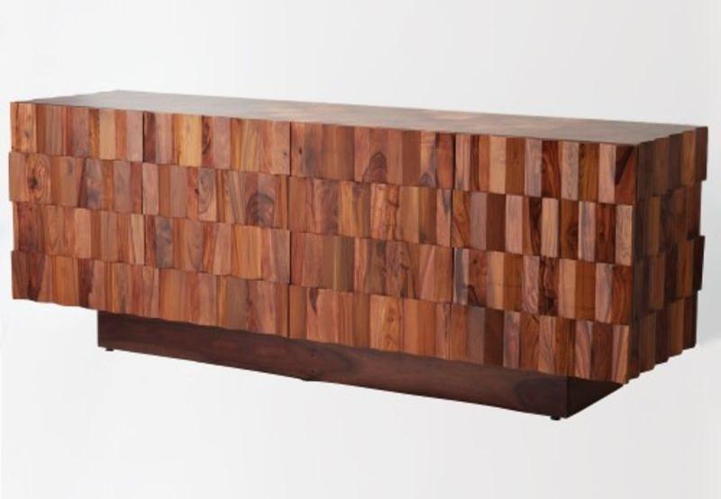 Washboard Media Cabinet