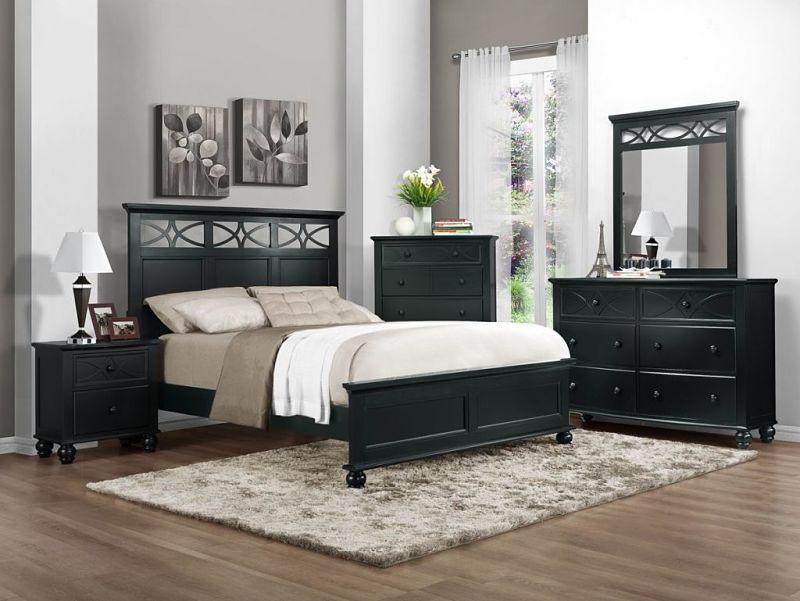 Sanibel Bedroom Set in Black