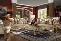 Homey Design HD-04 Reims Gold Formal Sofa Set