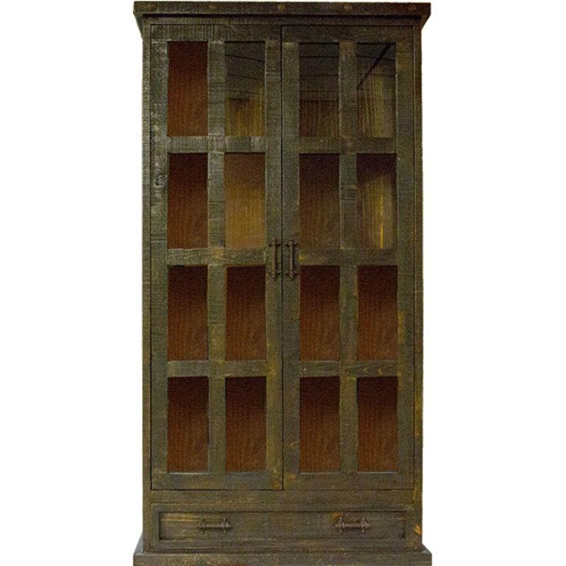 Las Piedras Rustic Curio Cabinet