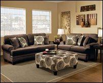 Big Swirl Chocolate Sofa Set