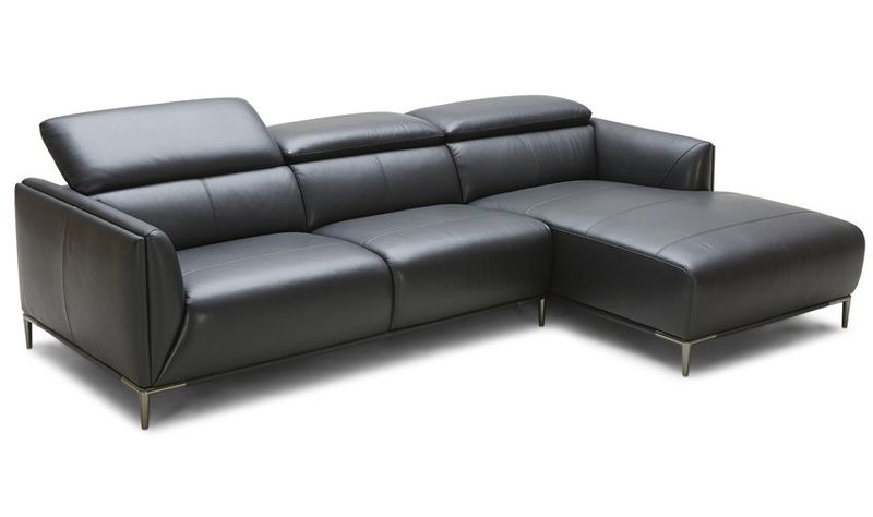 Divani Casa Belfast Modern Black Sectional Sofa