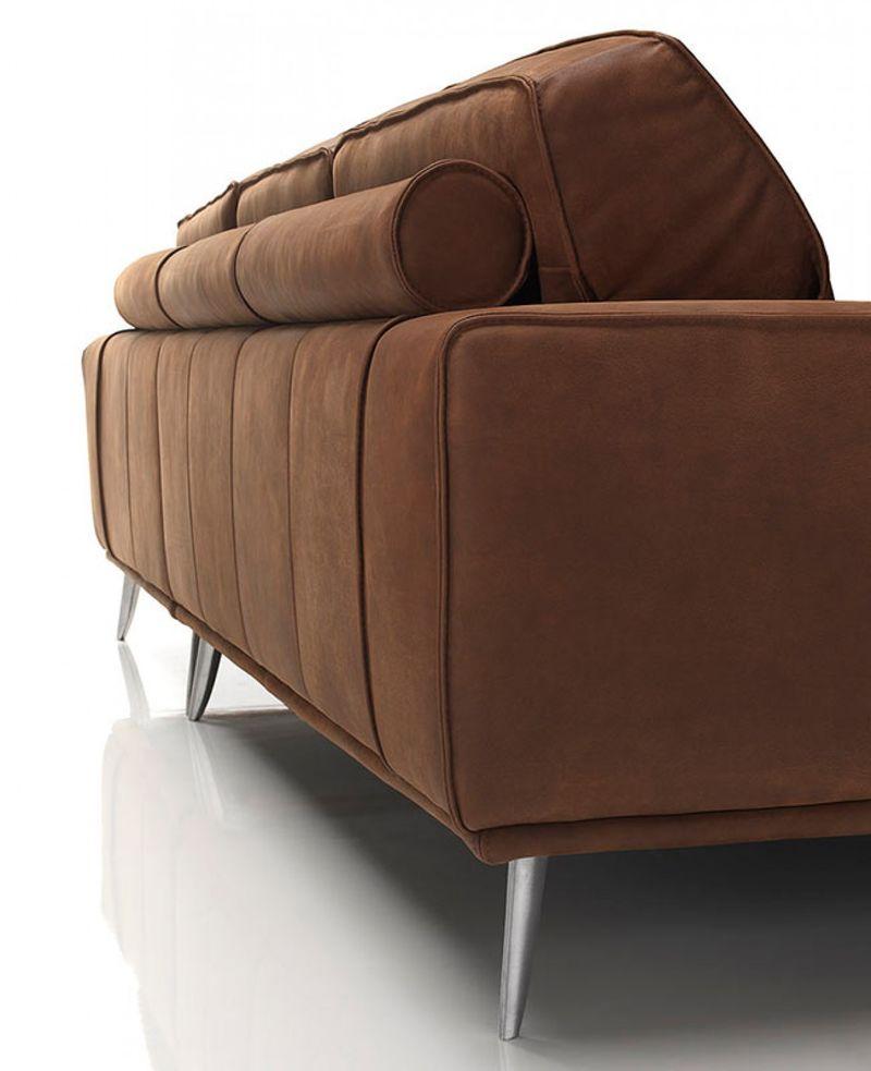 Dallas Designer Furniture Dima Elite Modern Africa Leather Sectional