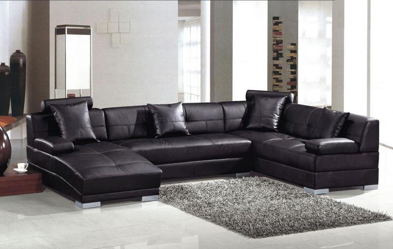 Divani Casa Ultra Modern Black Sectional