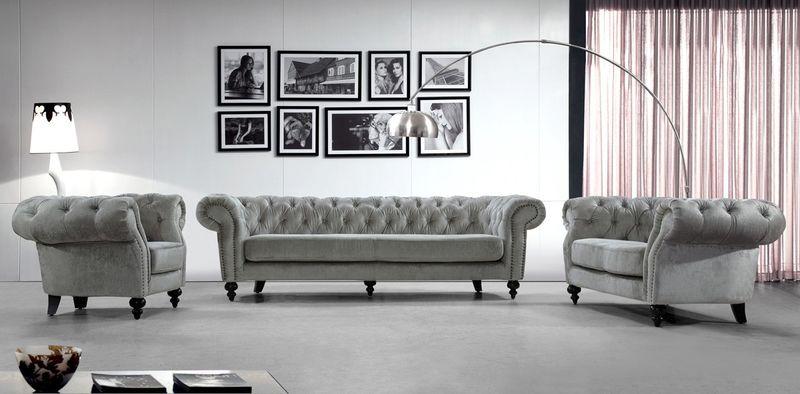 Divani Casa Alexandrina Grey Sofa Set