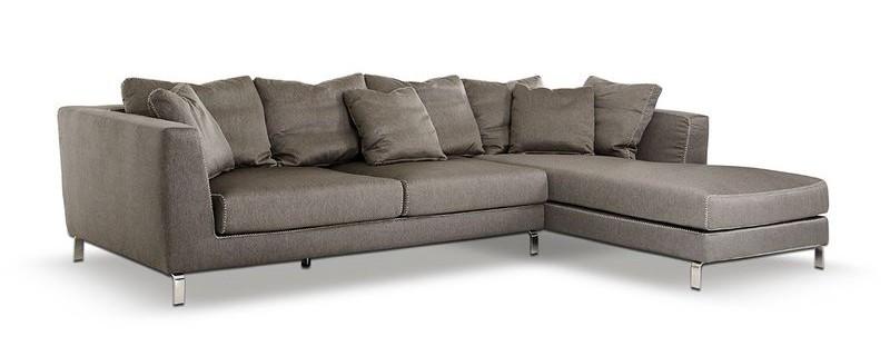 Divani Casa Chianti Modern Taupe Sectional Sofa