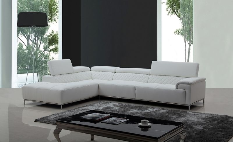 Divani Casa Citadel Modern White Sectional