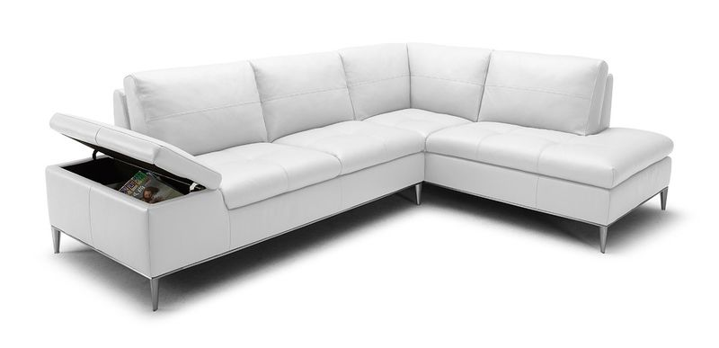 Divani Casa Gardenia Modern White Sectional