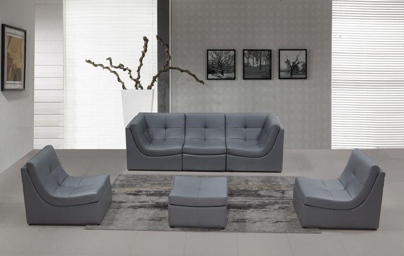 Divani Casa Modern Grey Modular Sofa Set