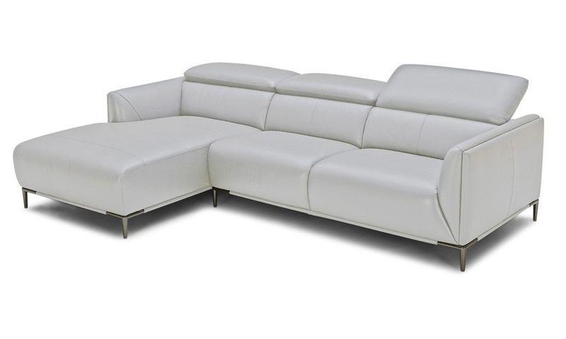 Divani Casa Sansa Modern Grey Leather Sectional Sofa
