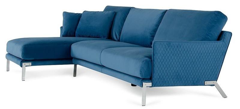 #VGFTACHEN BLU Lusso Achen Modern Blue Velvet Sectional Sofa
