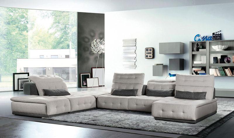 Lusso Daiquiri Italian Modern Grey Modular Sectional