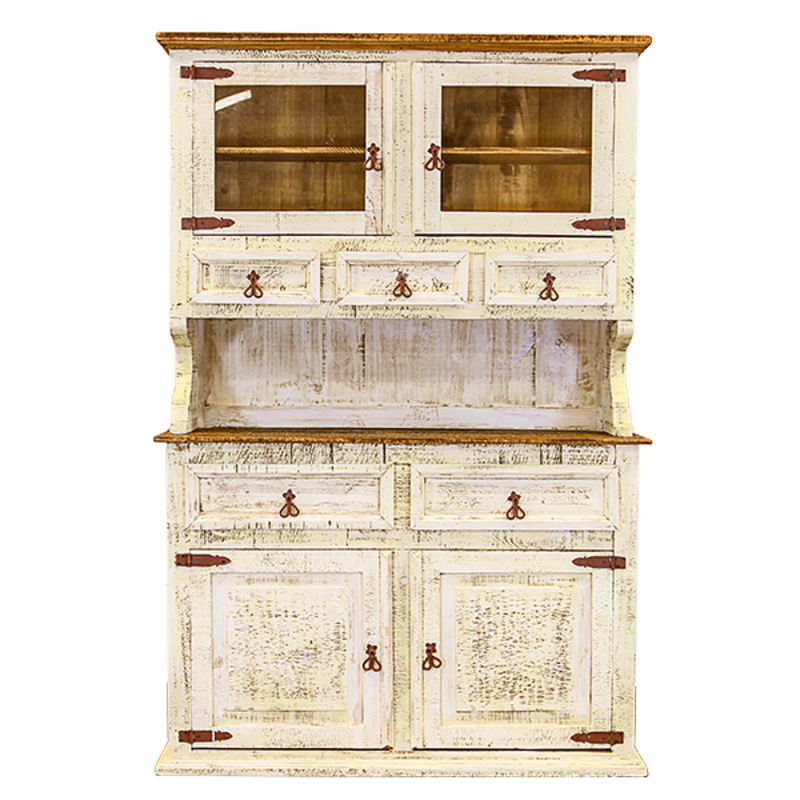 Dallas Designer Furniture | White Washed Rustic Dining Room Set