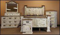 White Washed Rustic Bedroom Set