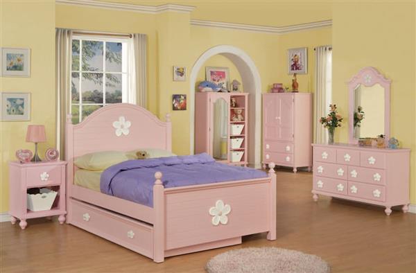 PinkFlowerBedroomSet