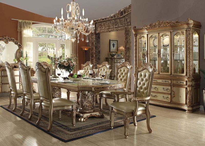 Dallas Designer Furniture, Gold Dining Room Set