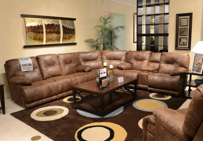 Voyager Elk Reclining Sectional with Power