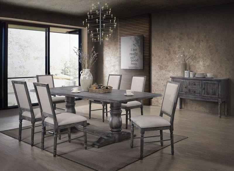 Leventis Dining Room Set in Gray