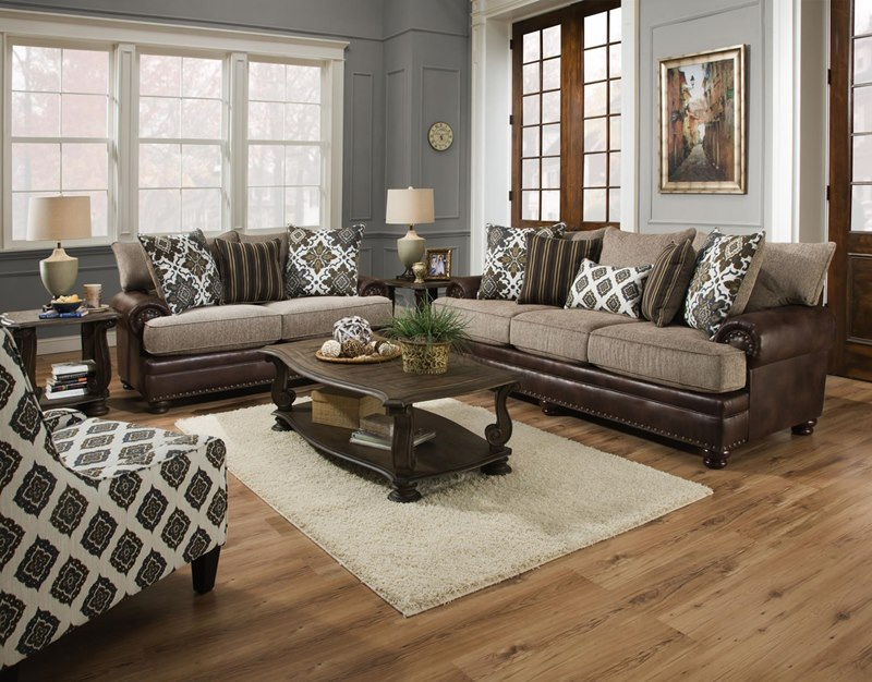 Yellowstone Chocolate Living Room Set
