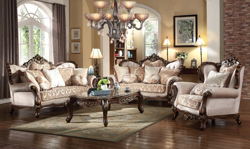 8900 Avon Formal Sofa Set | Victorian Style Furniture | Free Dallas Delivery