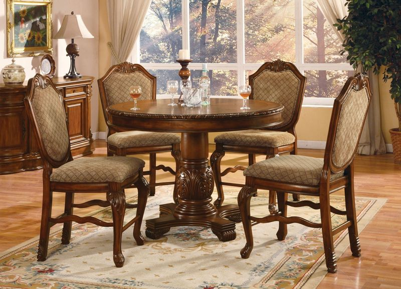 acme 04082 chateau de ville counter height dining room set in