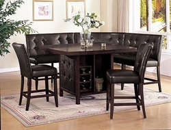 Bravo Counter Height Dining Room Set with Love Seat Bench
