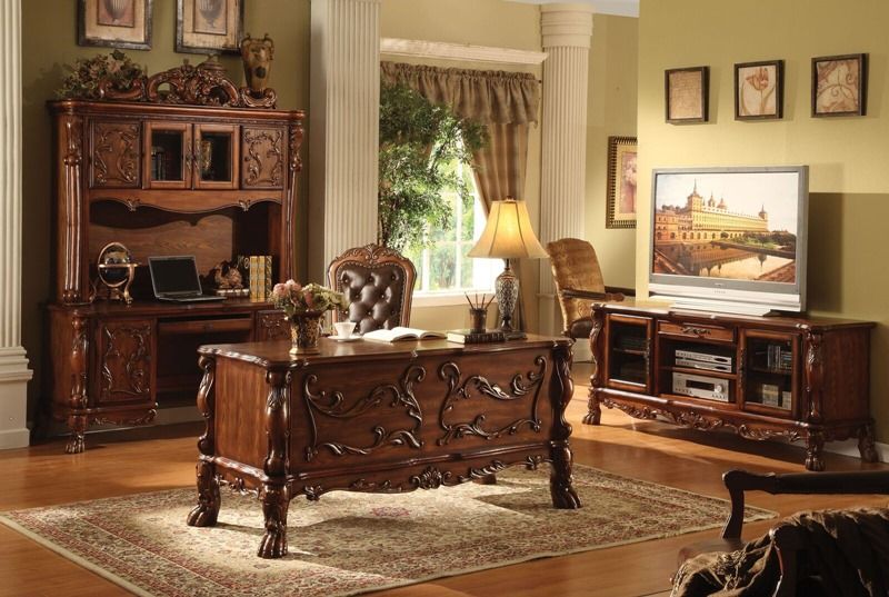 Dresden Computer Desk with Hutch