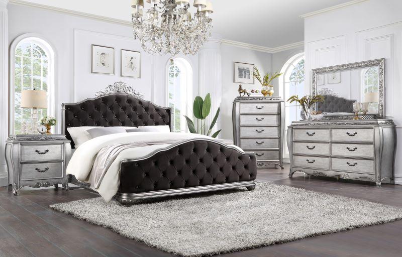 Leonora Formal Bedroom Set in Gold Finish