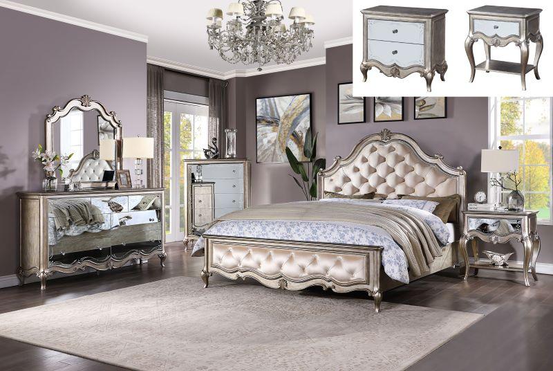 Esteban Formal Bedroom Set in Champagne