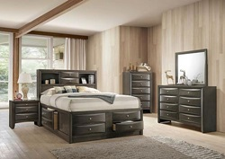 Ireland Bedroom Set with Storage Bed in Gray Oak