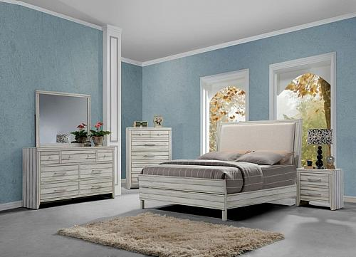 Shayla Bedroom Set with Upholstered Headboard