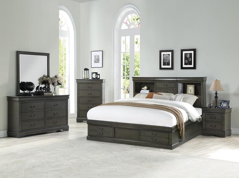 24930Q Louis Philippe Dark Gray Storage Bedroom | Acme | Free Delivery