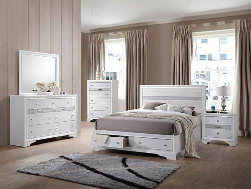 Naima Bedroom Set in White