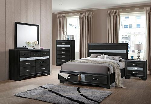 Naima Bedroom Set in Black