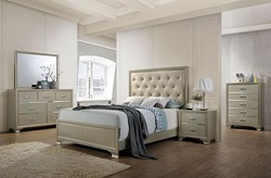 Carine Bedroom Set in Champagne