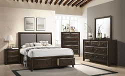 Brenta Bedroom Set in Walnut