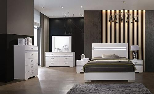 Naima II Bedroom Set in White