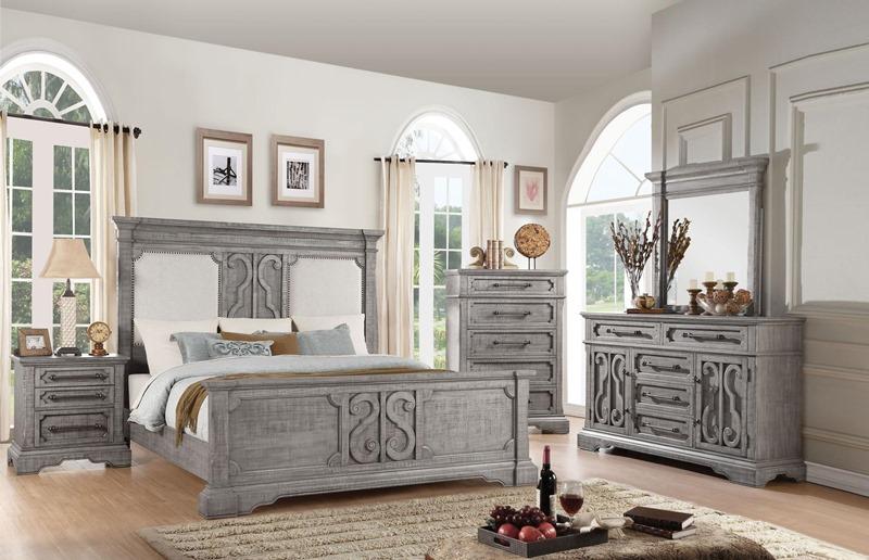 Artesia Bedroom Set with Upholstered Headboard